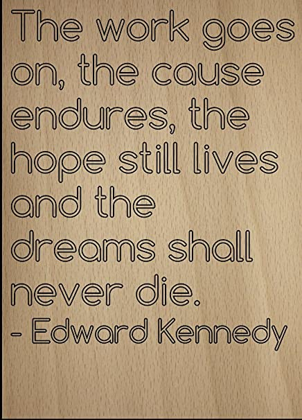 Cause Endures >> Amazon Com The Work Goes On The Cause Endures The Quote By
