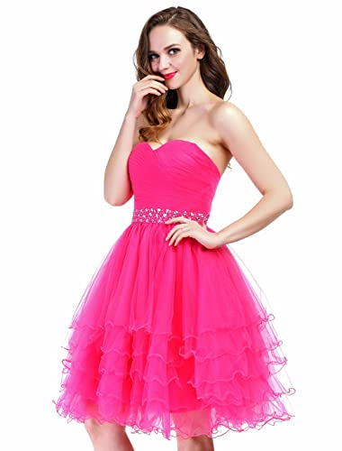 FAIRY COUPLE Mini Princess Strapless Homecoming Cocktail Party Dress D0235