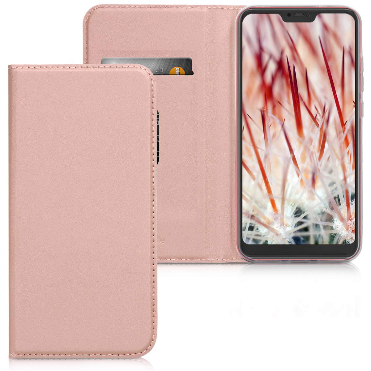 kwmobile Flip Case for Xiaomi Redmi 6 Pro/Mi A2 Lite - Smooth PU Leather Wallet Folio Cover with Stand Feature - Black KW-Commerce 45618.01_m001172