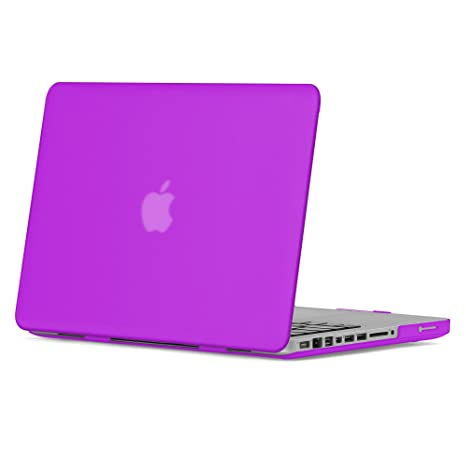 "LCD Screen 3 in 1 Rubberized PURPLE Case for Macbook White 13/"" Key Cover"