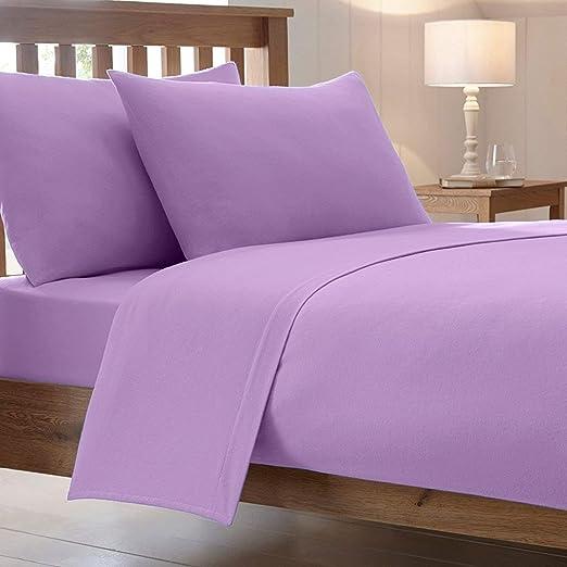Algodón funciona® Lujo peinado polialgodón cama Sábanas bajeras ...