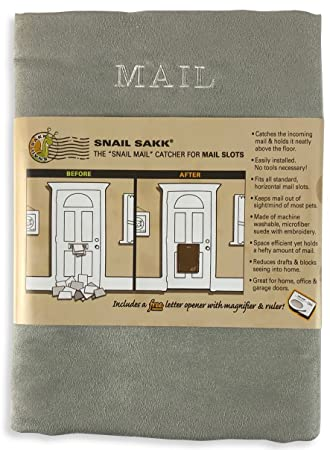 Incroyable Snail Sakk: Mail Catcher For Mail Slots   GRAY. No Tools/screws Necessary
