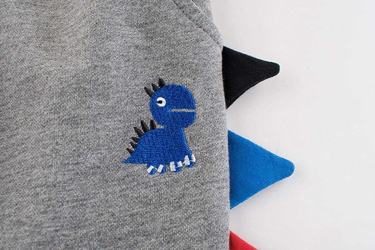 Dinosaur Embroidery Sweatpants 1Pack or 2Pack LeeXiang Boys Cotton Jogger Pants