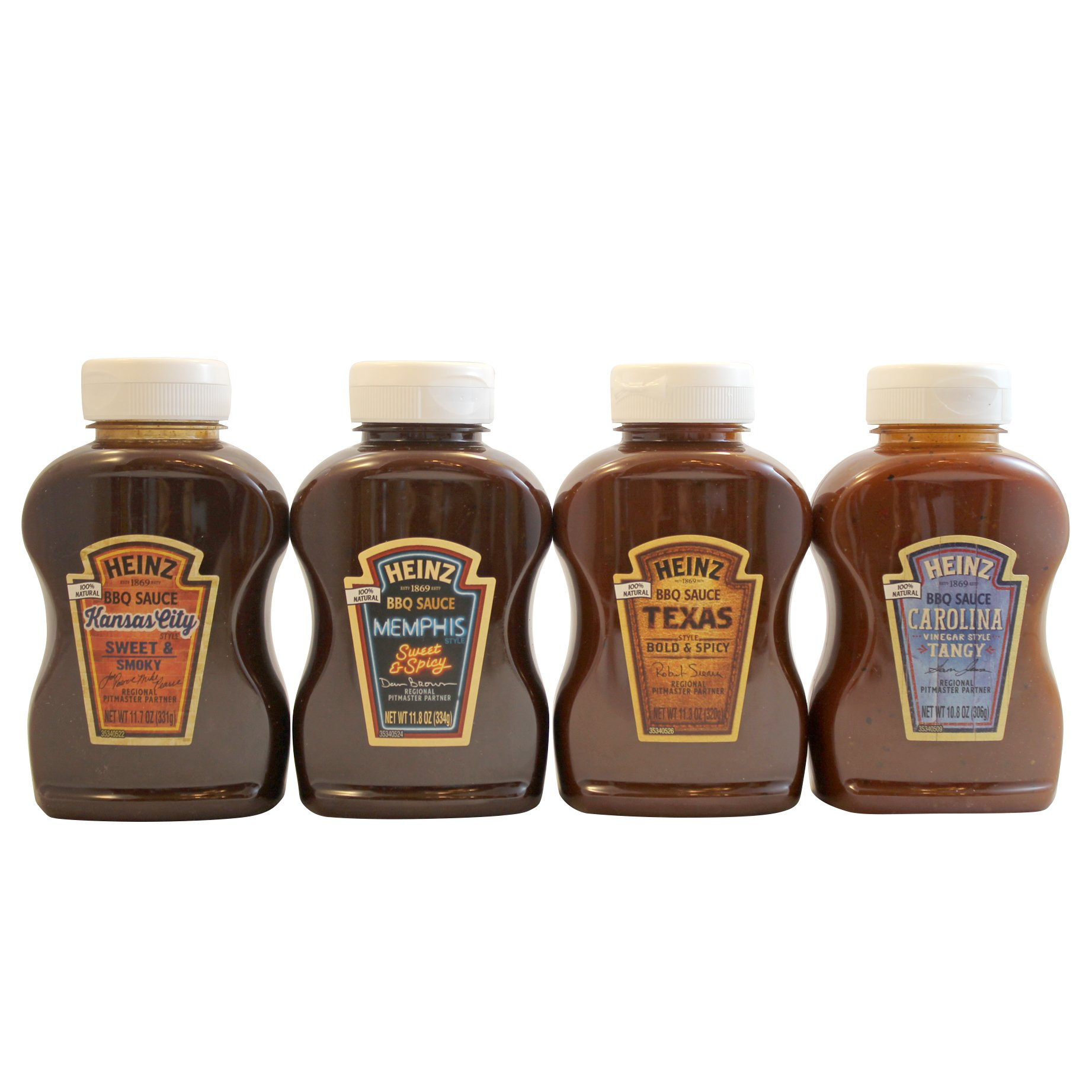 Heinz BBQ Suace Sampler - Variety Pack of Gourmet 100% Natural Barbecue Sauce Flavors