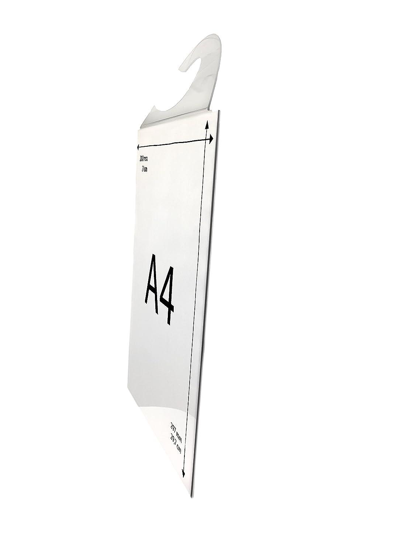 Porte-affichette A4 vertical pour rétroviseur/P.L.V auto, 21x29,7 cm, polycarbonate transparent Solnishko