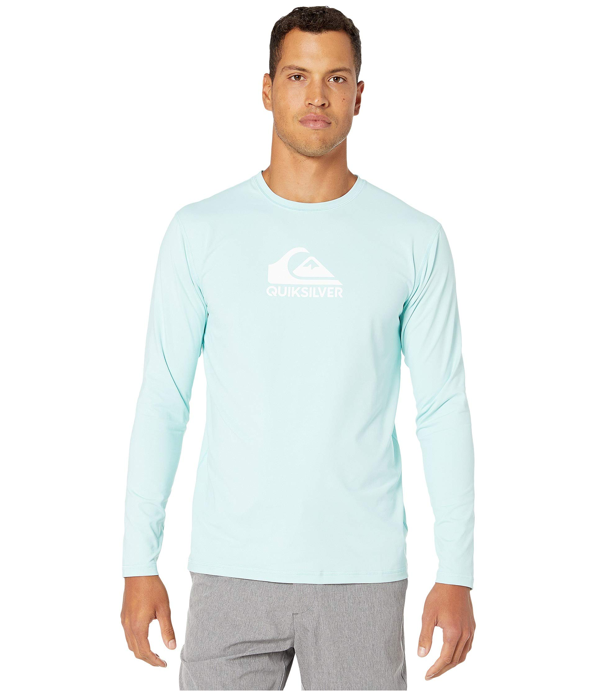 Quiksilver Solid Streak Long Sleeve Rashguard Pastel Turquoise LG by Quiksilver