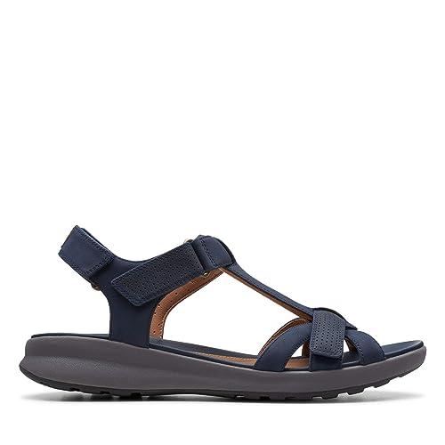 00479c550da3 Clarks Un Adorn Vibe Nubuck Sandals in Navy Wide Fit Size 7½  Amazon.co.uk   Shoes   Bags
