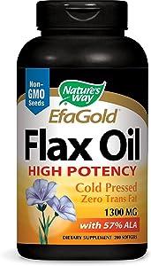 Nature's Way Flax Oil 1300mg, 200 Softgels