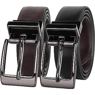 Kids Faux Leather 1 Single Prong Basic Belt Black and Black, Large 88