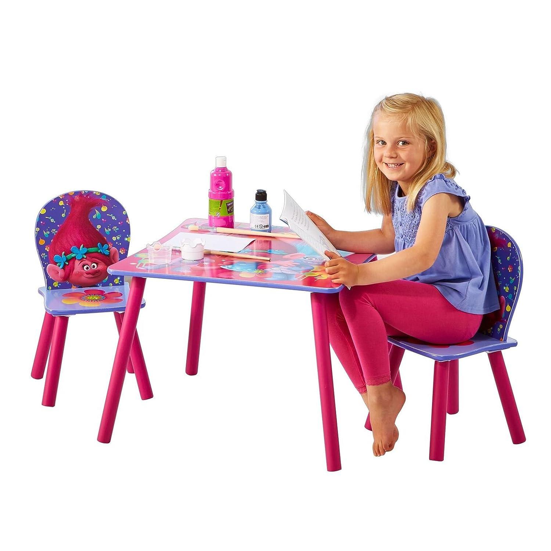 Trolls Sitzgruppe Tisch Stühle Kindermöbel Kindersitzgruppe ...