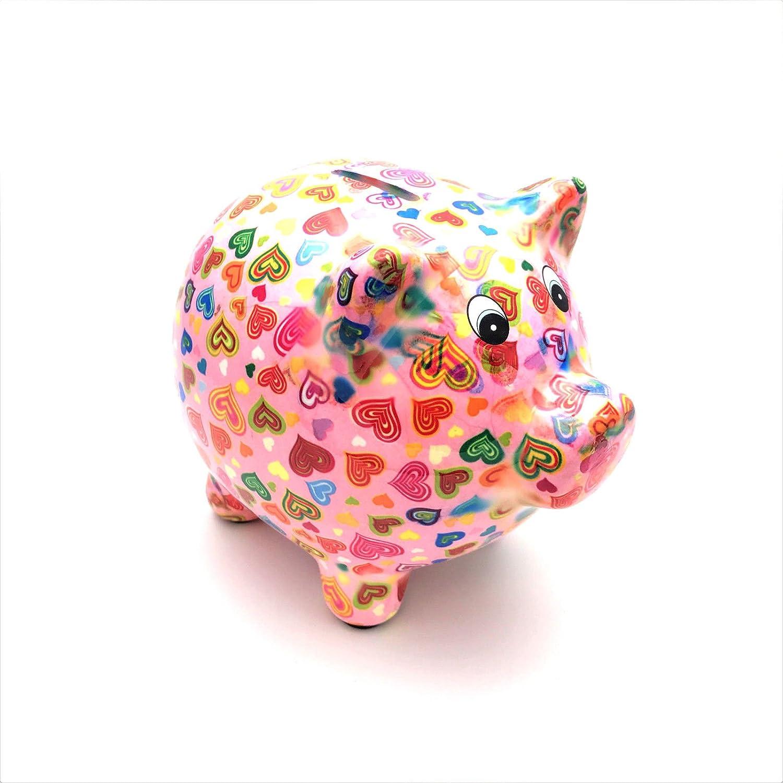 Pixie The Pig salvadanaio in ceramica rosa Love Hearts Fiesta Studios