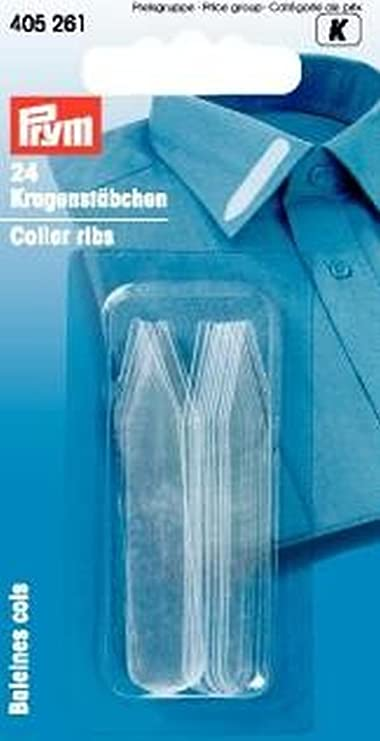 Puntine per colletto camicia rinforzano colletto camicia Stecche colletto 10 x 55 mm STECCHE IN PLASTICA PER COLLETTI CAMICIE ABITI UOMO Confezione da 24
