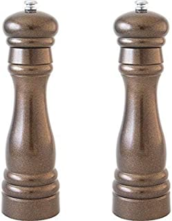 product image for Fletchers' Mill Federal Salt & Pepper Mill, Metallic Bronze - 8 Inch, Adjustable Coarseness Fine to Coarse, MADE IN U.S.A.