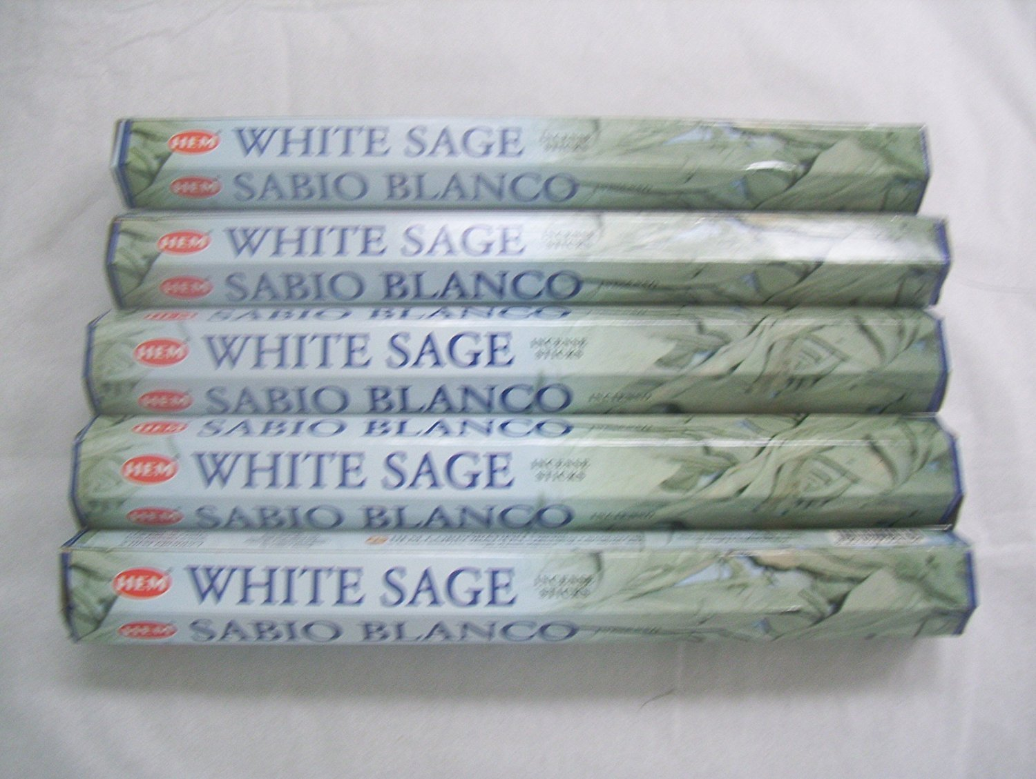 Hem White Sage 100 Incense Sticks (5  Packs Of 20 Sticks) by Hem