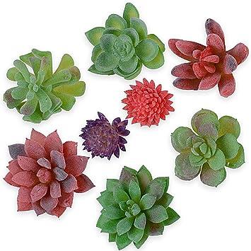 FEPITO 16 Pcs Taille Al/éatoire Plantes Succulentes Artificielles Plantes Succulentes Non Piquantes Faux Plante Succulente en Tiges Vertes pour Maison D/écoration de Jardin Int/érieur