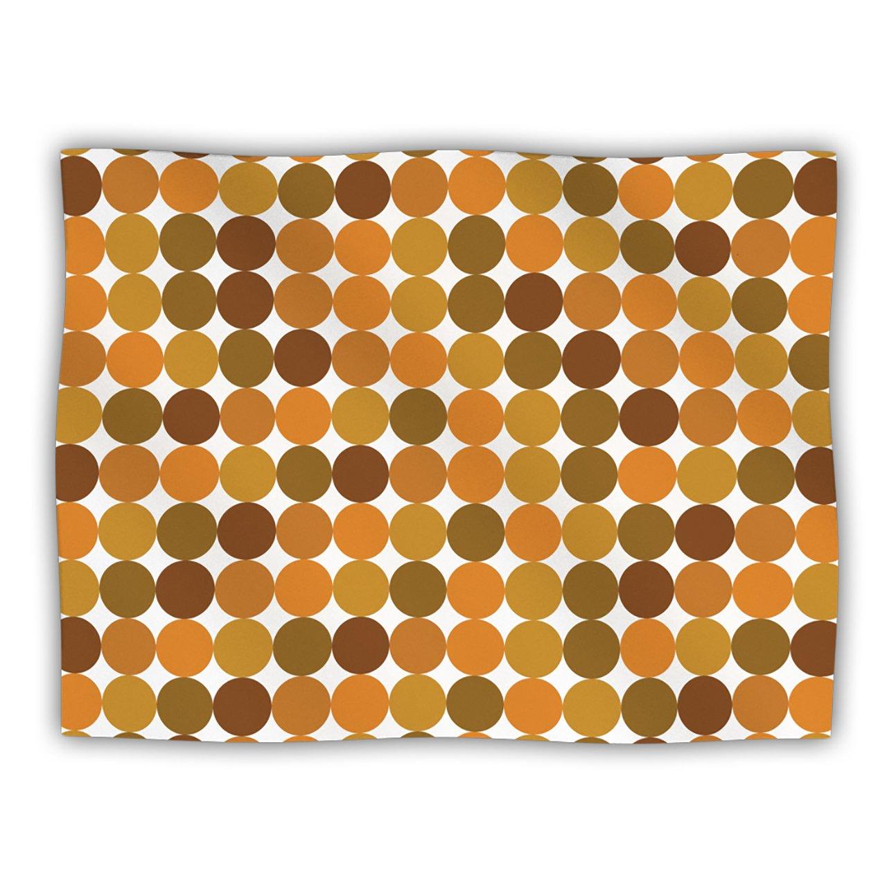 Kess InHouse Kess Original Noblefur orange Harvest  Pet Dog Blanket, 60 by 50-Inch