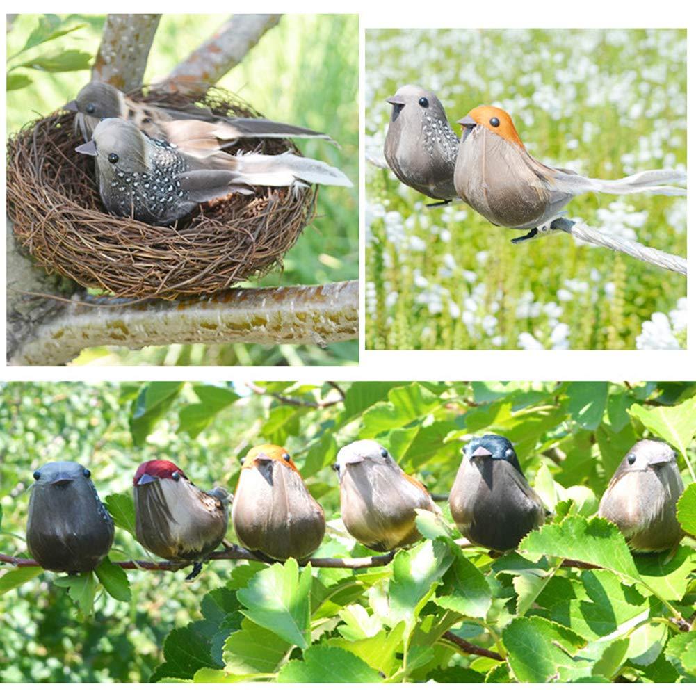 Austinstore Artificial Foam Feather Birds DIY Crafts Ornament Home Garden Decor Random Style