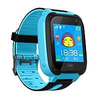 Enfants Smart Watch Téléphone, GPS Tracker Smart Wrist Watch pour 3-12 ans Garçons Filles avec SOS Caméra Carte Sim Slot Écran Tactile Jeu Smartwatch Jouets Enfants Cadeau (Bleu)