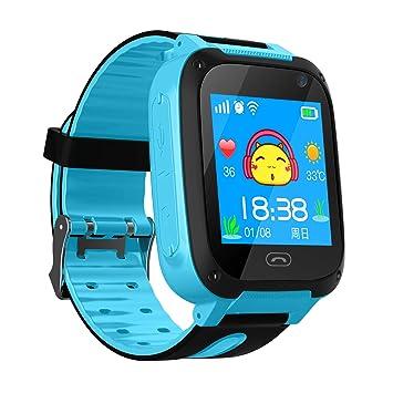 bhdlovely Montre LBS/GPS Intelligente pour Enfants Filles Garcons 3-12ans Bracelet Montre Connectée