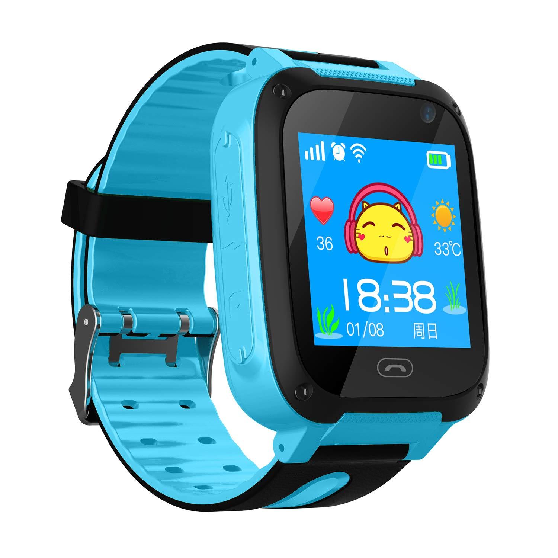 Reloj Niños Smart Watch Phone, LBS/GPS Tracker Smartwatch para Niños Niñas con Cámara