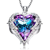 NEWNOVE Heart of Ocean Pendant Necklaces for...
