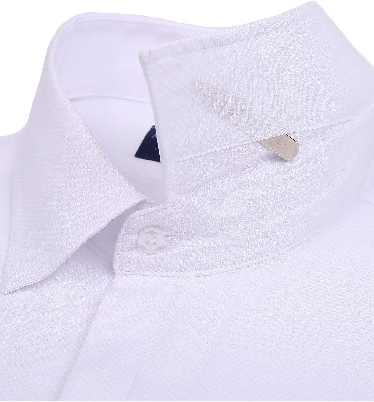 Chemise D/écontract/éE pour Hommes Shirt Boutonn/é /à Manches Longues en Coton M/éLang/é De Couleur Unie en Lin