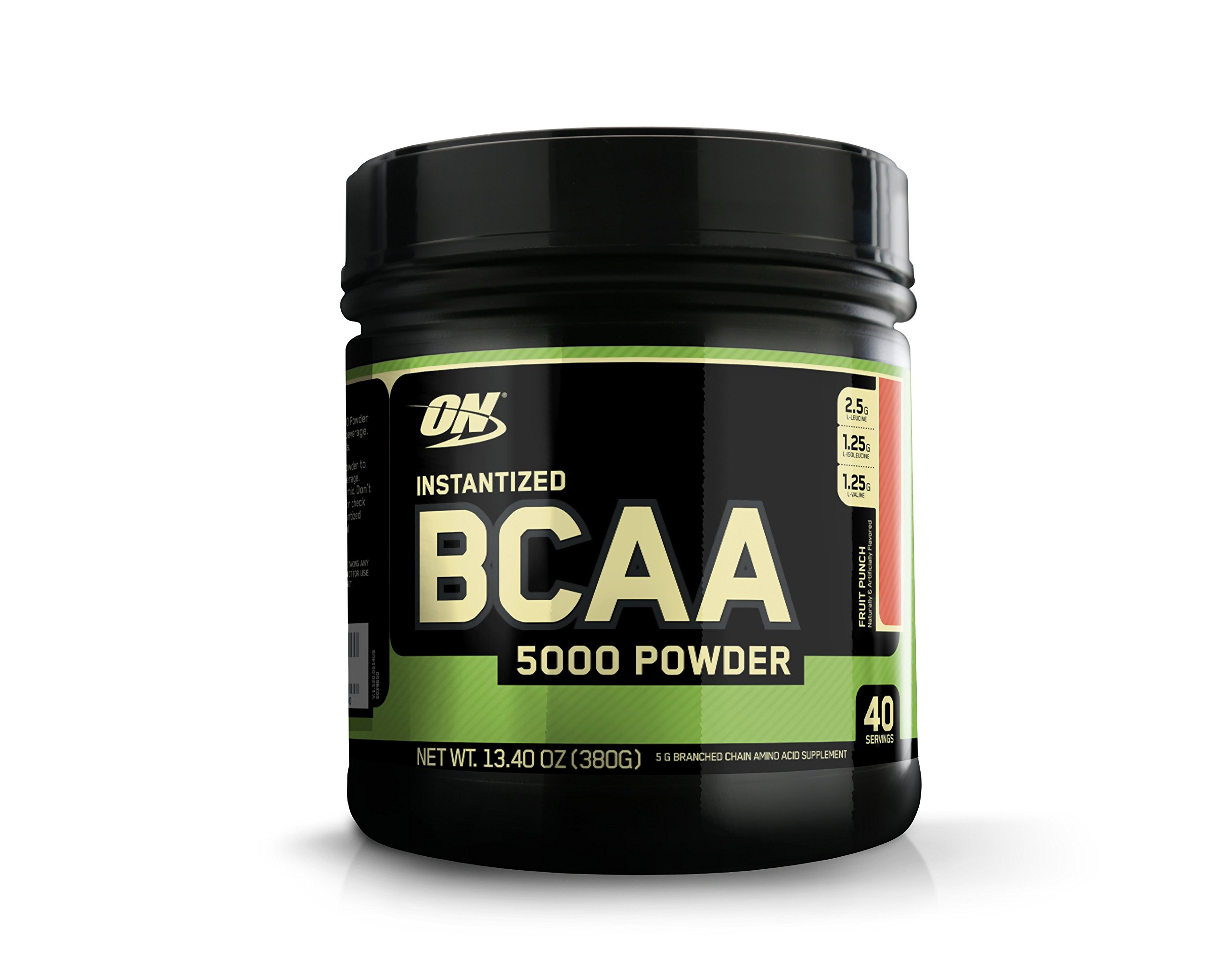 Optimum Nutrition Instantized BCAA Branched Chain Essential Amino Acids Powder, 5000mg, Flavor: Fruit Punch, 40 Servings
