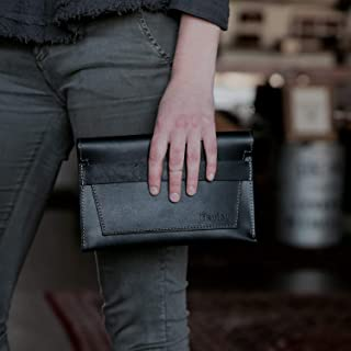 product image for The Moriah Fine Leather Clutch in Black