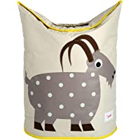 3 Sprouts Baby Laundry Hamper Storage Basket Organizer Bin for Nursery Clothes, Goat