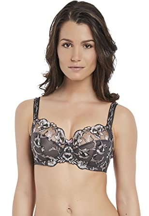 3948b7c8f3e65 Fantasie Women s Angelina Side Support Embroidered Underwire Bra Full  Coverage