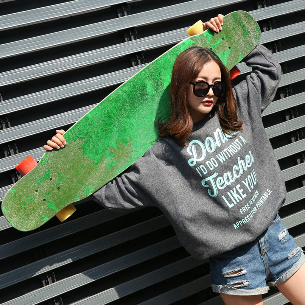 HYE-SPORT 46 Inches Long X 9.8 Inch Wide Deck Longboard Dancing Skateboard for Kids/Boys/Girls/Youth/Adults Tricks Skate Board by HYE-SPORT (Image #4)
