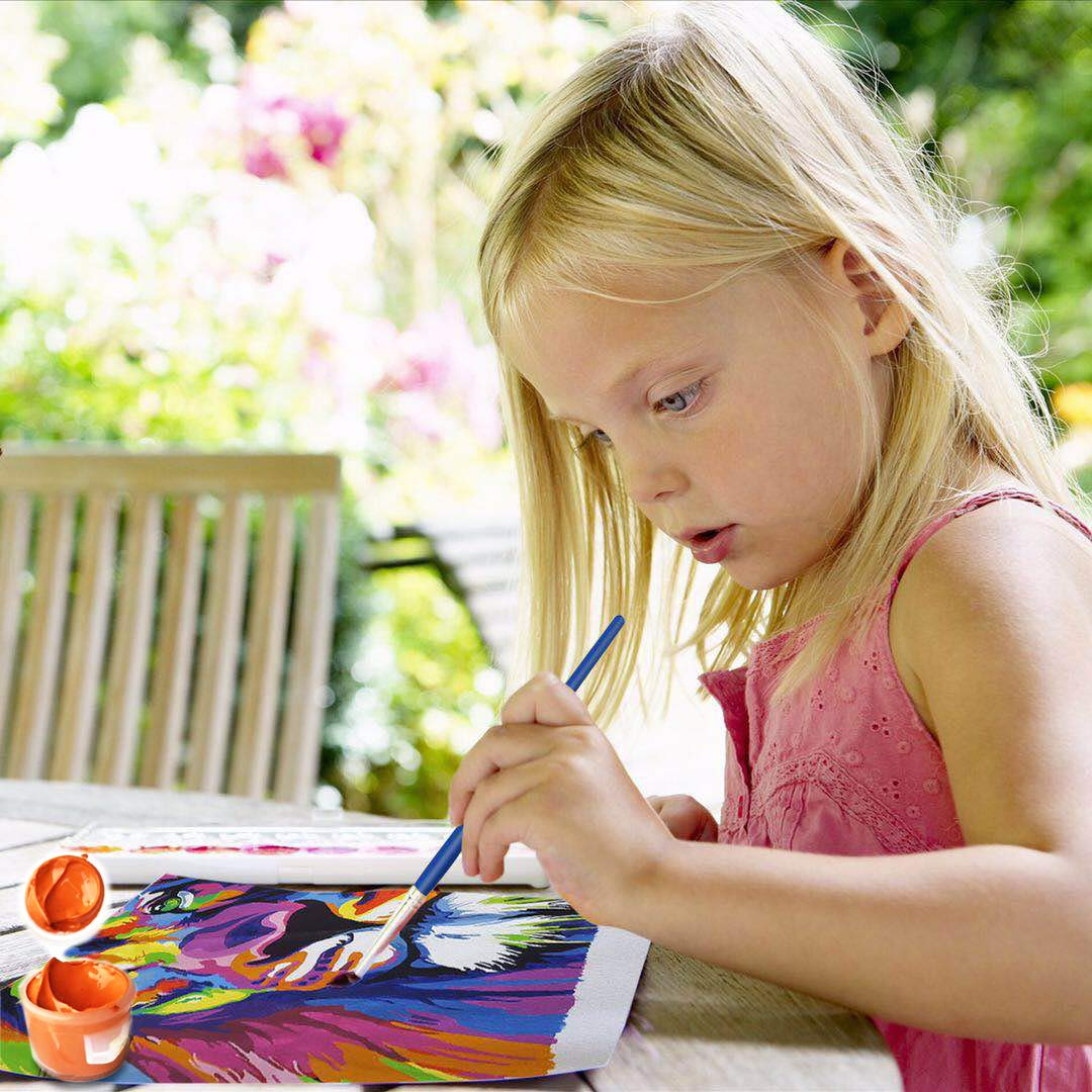 Paint by Numbers for Adults /& Kids /& Beginner 16 x 20 inch Canvas /& Acrylic Paints Colorful Lion iFymei DIY Oil Painting Kit