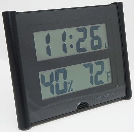 Atomic tiempo et-31u reloj de pared estación meteorológica Digital temperatura grande fuente