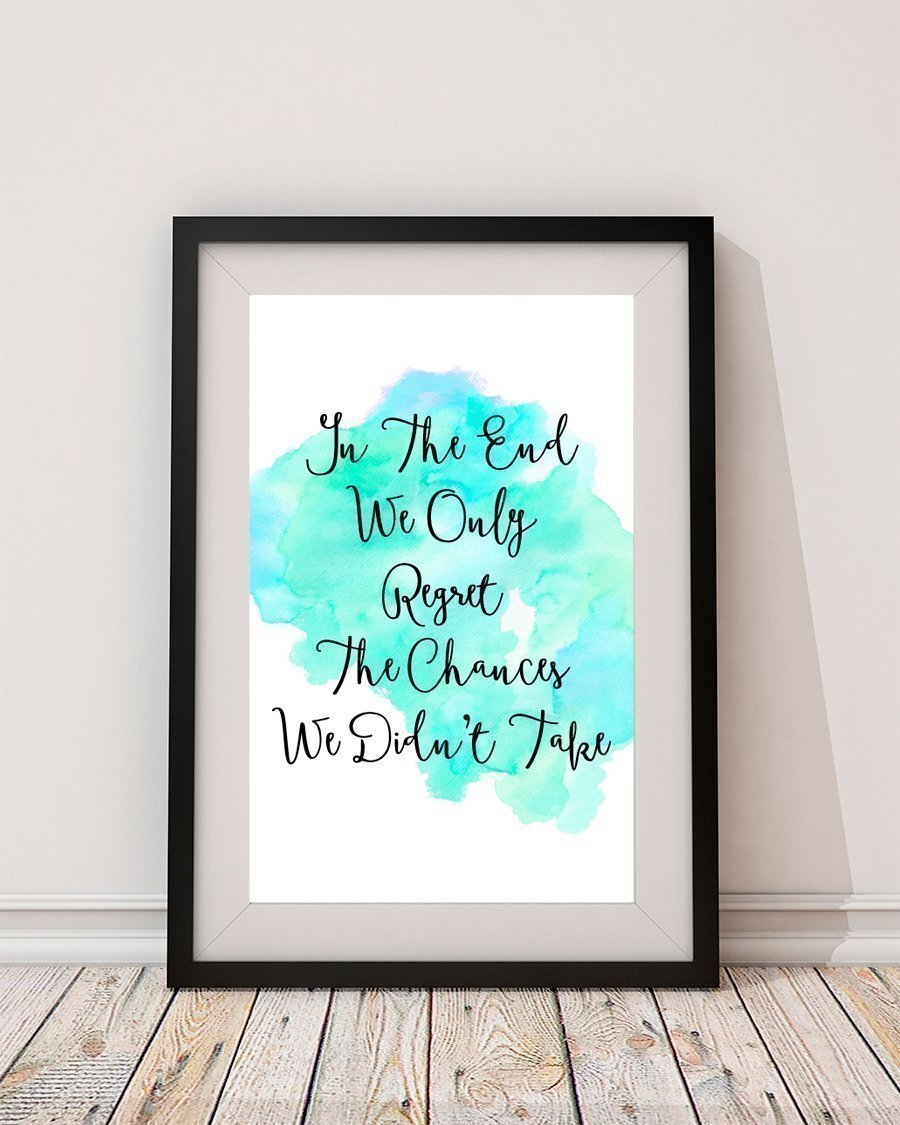 inspirational signs for office. Amazon.com: Inspirational Wall Sign Ideas - Watercolor Printable Quote Decor Living Room Art Office Desk Decor: Handmade Signs For O