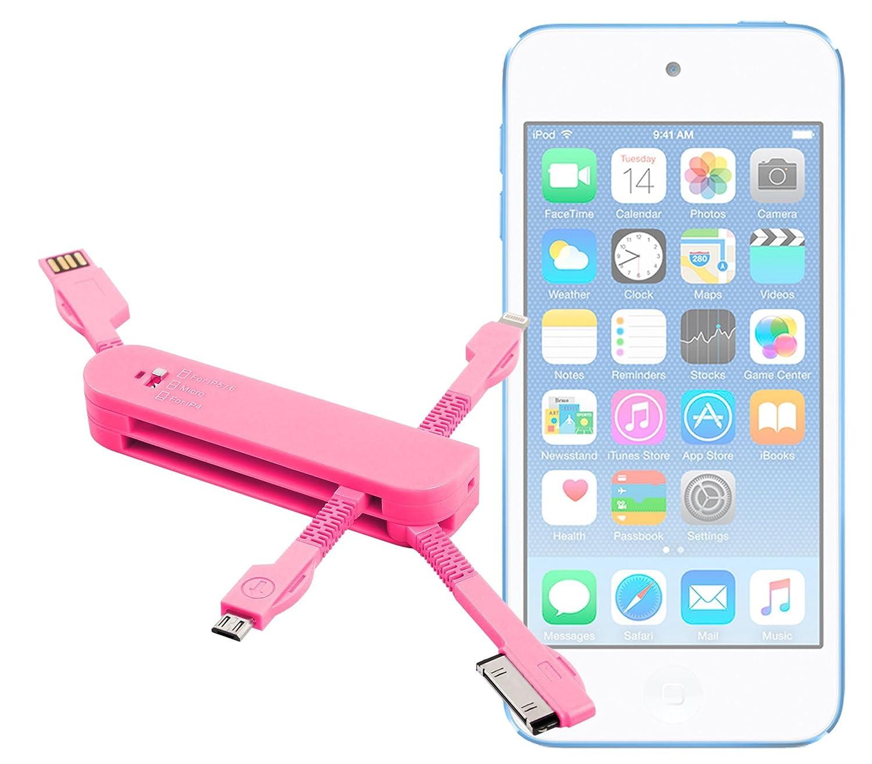 DURAGADGET Multi-Cargador Rosa para Apple iPod Touch (6/5 ...