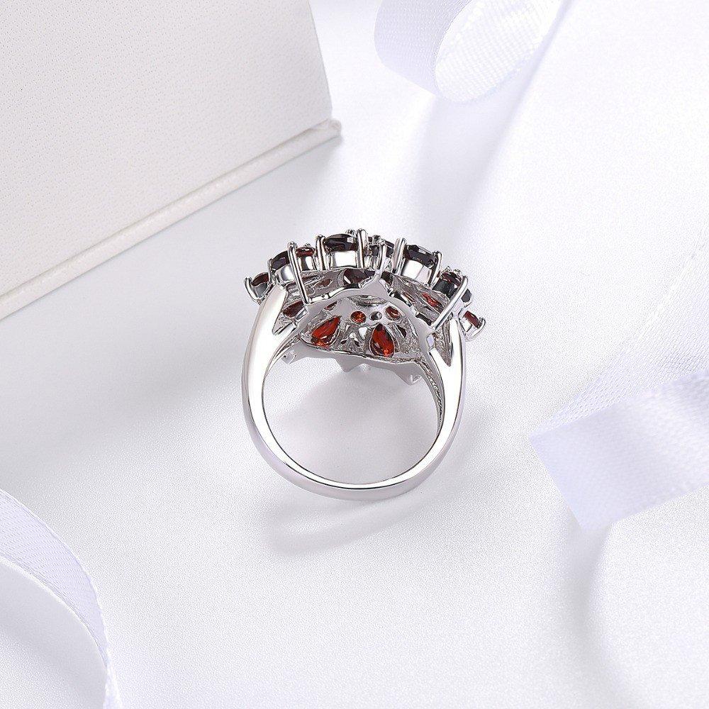 XBKPLO Rings for Women Pomegranate Ruby Diamond Wedding Accessories Jewelry Gift Size 6-10 (10) by XBKPLO (Image #4)