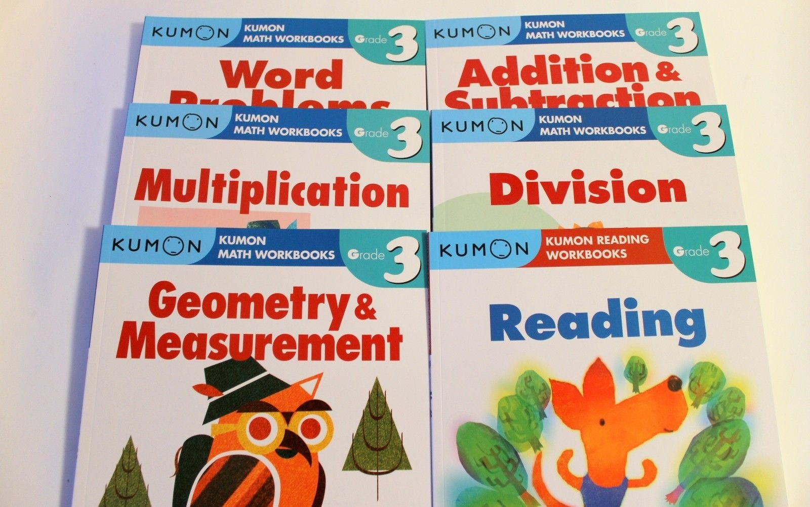 Kumon Grade 3 Set: Math Workbooks + Reading (6 Books): Kumon ...