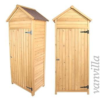 Fabulous vanvilla Geräteschuppen Holz Satteldach Naturfarben Gerätehaus  UL64