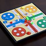Magnetic Ludo Traditional Board Brain Game 1010 inches (2525 cm) Travel Size