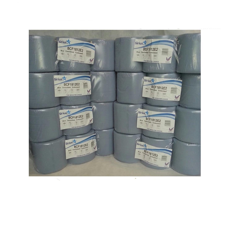 Blue Centre feed Embossed Rolls Wiper Paper Towel Centrefeeds 48 rolls(8 PACKS)x Star Tissue U.K.