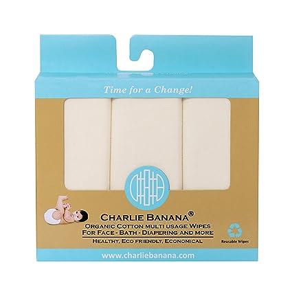 Charlie plátano algodón orgánico toallitas, 10 unidades)