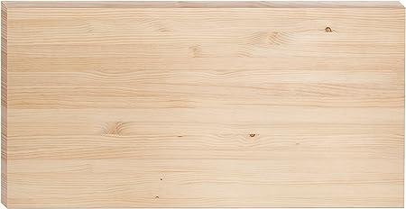 Tablero de madera maciza de pino Certificado PEFC y acabado sin barnizar.,Medidas: 140x70x3,5cm (alt