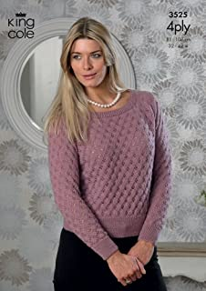 c65fbe2f3d3a1 Sirdar Ladies Tops Cotton Knitting Pattern 7743 4 Ply  Amazon.co.uk ...