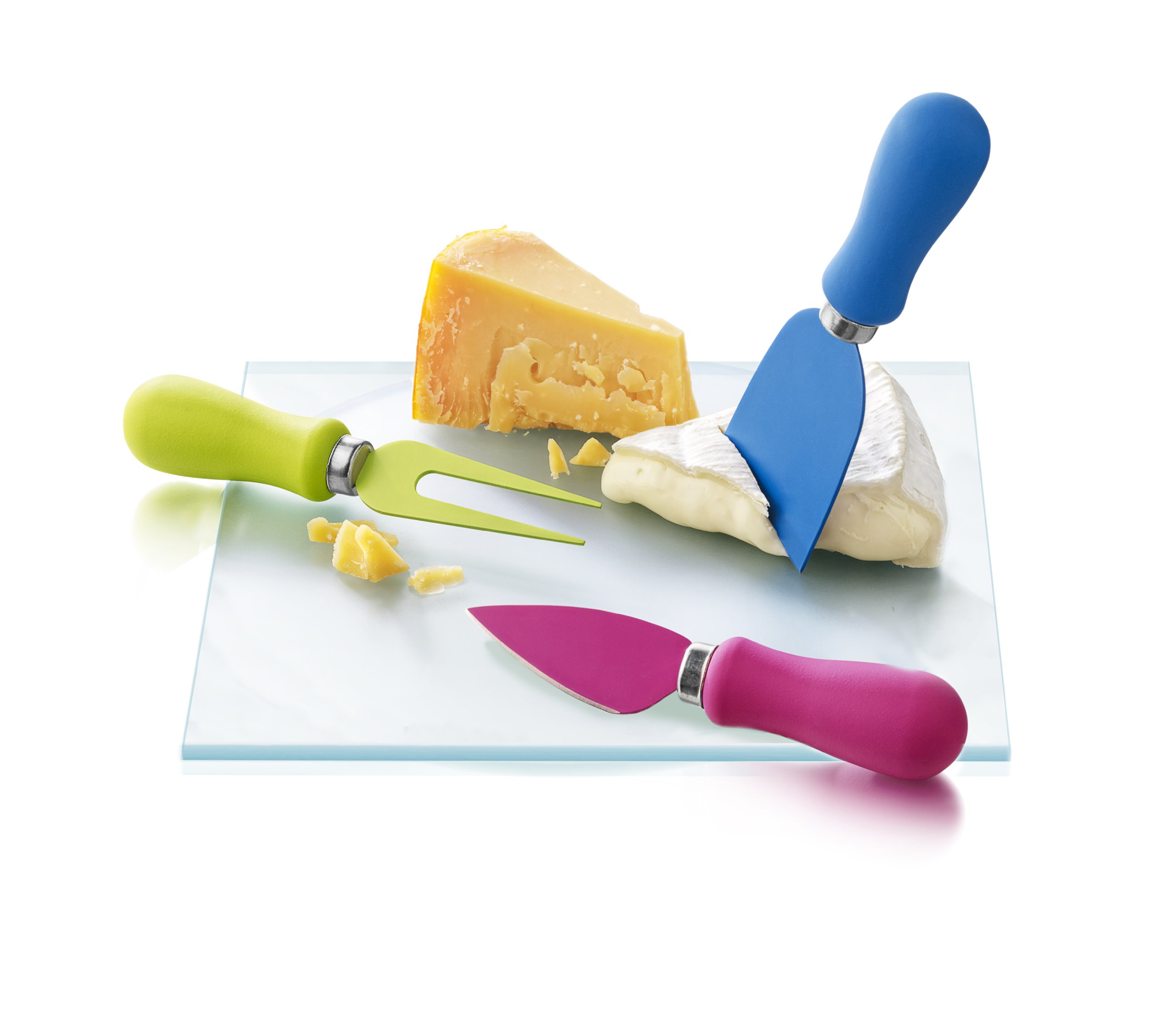 Boska Holland Havana Collection Cheese Knife Set for All Types of Cheese, Assorted Bright Colors