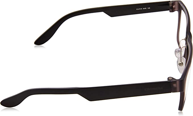 Carrera 5534 Eyeglass Frames CA5534-0MVE-5317 Matte Black Frame Gray Lens Diameter 53mm,