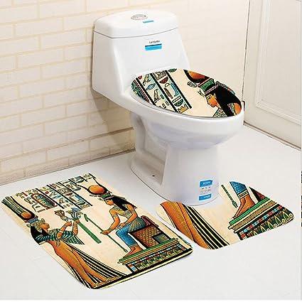 Astounding Amazon Com Keshia Dwete Three Piece Toilet Seat Pad Andrewgaddart Wooden Chair Designs For Living Room Andrewgaddartcom