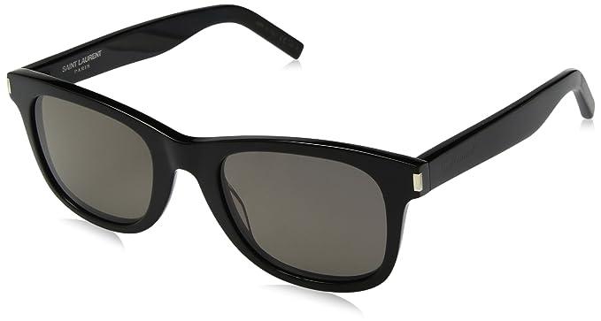 Saint Laurent SL 51 002 Gafas de Sol, Negro (Black/Grey), 50 ...