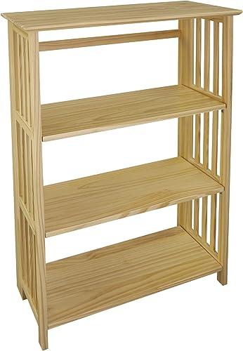 """Casual Home Soho Manhattan 4-Shelf Folding Bookcase 26″"""" Wide Review"""