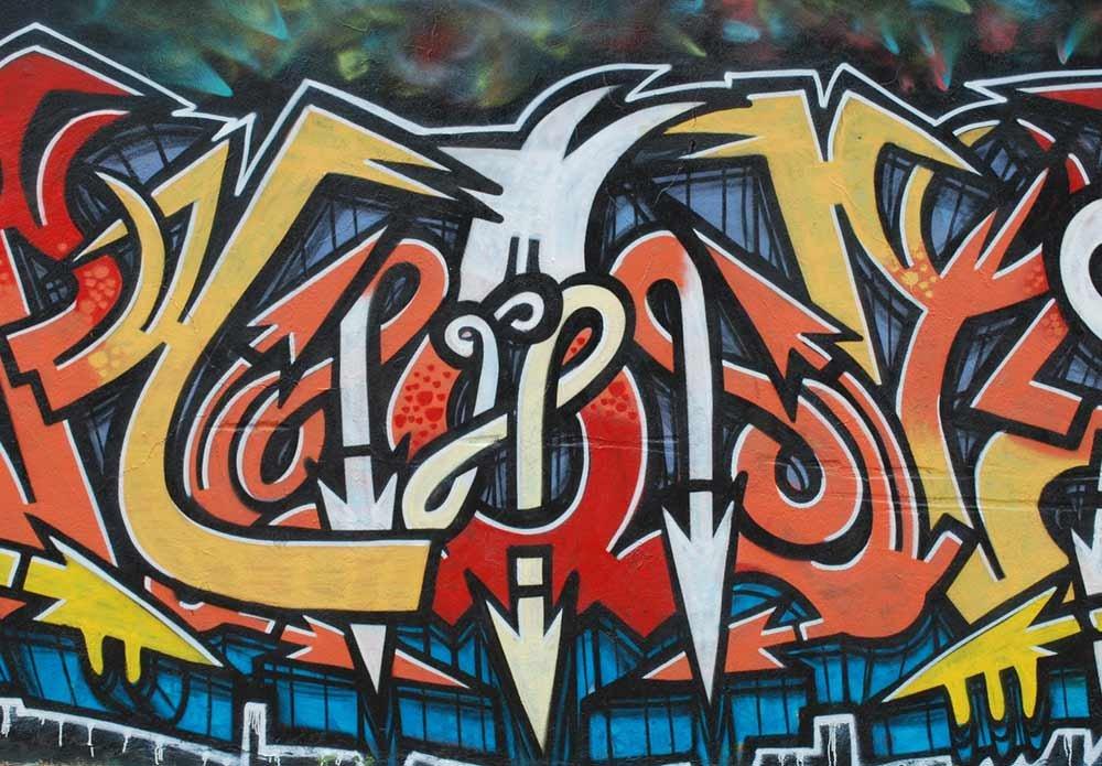 Wall26 Colorful Graffiti Large Wall Mural Home Decor