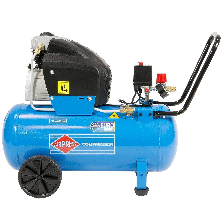 BRSF33 ® Impresión Compresor De Aire 2,5 ps 1,8 kW 50 litros hl360 - 50 Aumentador grande Max. 10 bar ölgeschmiert acoplamiento rápido: Amazon.es: Bricolaje ...